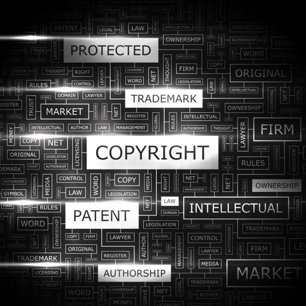 Intellectual property, trademark, copyright, patent, author